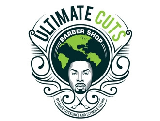 Ultimate Cuts Barber Shop  logo design
