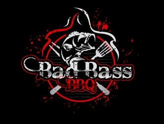 Bad Bass BBQ logo design
