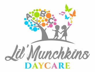 Lil' Munchkins Daycare logo design