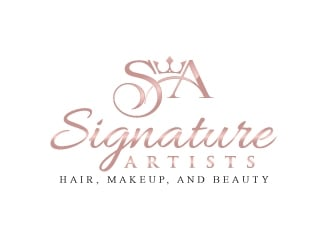 Signature Glam Artists logo design