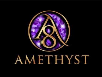 8Amethyst logo design