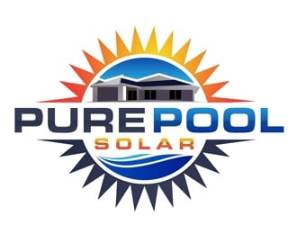 Pure Pool Solar logo design