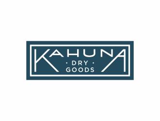 Kahuna Dry Goods logo design