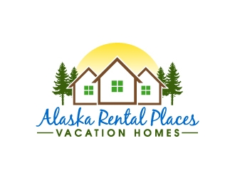 Alaska Rental Places   (vacation homes) logo design