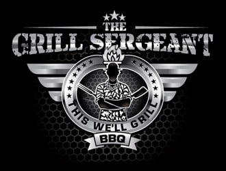 The Grill Sergeant BBQ logo design