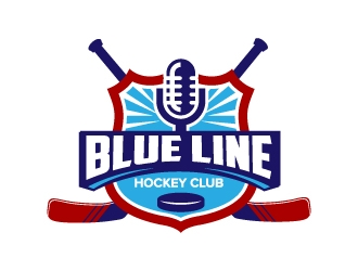 blue line club logo design