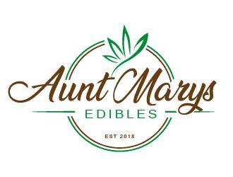 Aunt Marys Edibles logo design