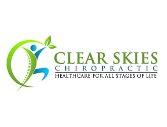 Clear Skies Chiropractic logo design