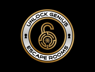 Unlock Genius logo design