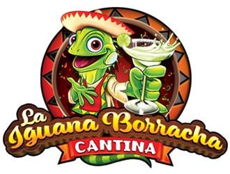 La Iguana Borracha Cantina logo design