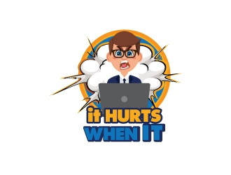 It Hurts When IT logo design
