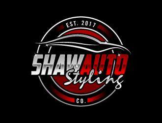 SHAW AUTO STYLING logo design
