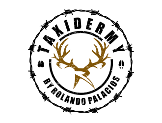 Taxidermy by Rolando Palacios logo design
