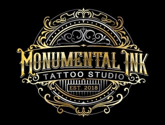Monumental Ink Tattoo Studio logo design