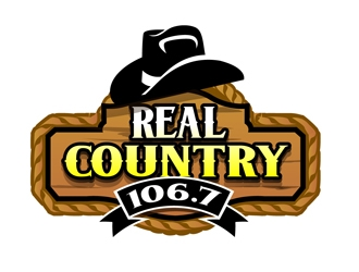 Real Country 106.7 logo design