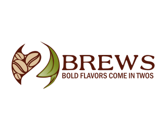 2Brews logo design