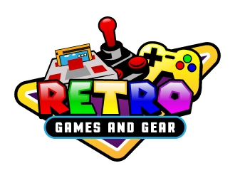Retro Games and Gear logo design