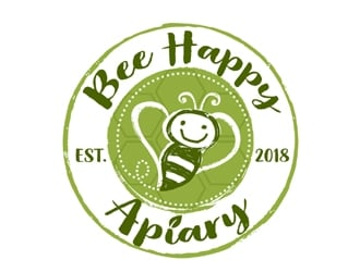 Bee Happy Apiary logo design