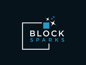 Blocksparks logo design