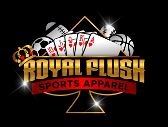RoyalFlush sports apparel logo design