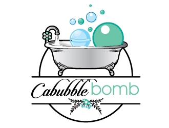 Cabubble Bomb logo design