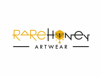 Rare Honey or Rare Honey Artwear logo design
