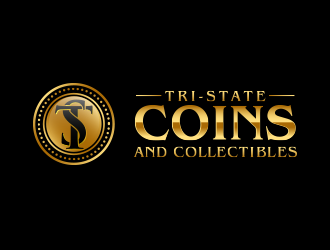 Tri-state coins and collectables logo design