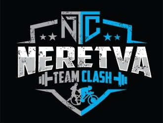 Neretva Team Clash logo design