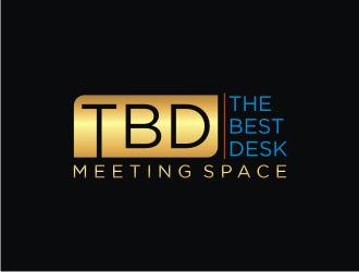 TBD (the best desk) Meeting Space logo design