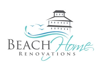 Beach Home Renovations logo design