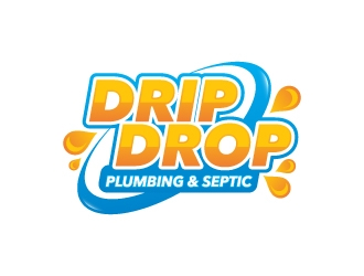 Drip Drop Plumbing & Septic logo design