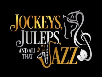 Jockeys, Juleps and all that Jazz logo design