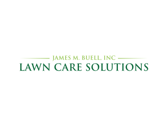 James M. Buell, Inc Lawn Care Solutions logo design