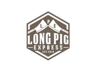 Long Pig Express logo design