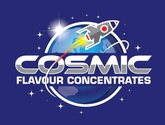 Cosmic Flavour Concentrates logo design