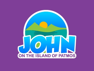John: On the Island of Patmos logo design