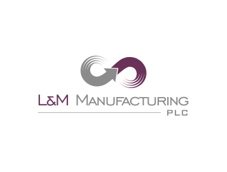 L&M Manufacturing PLC logo design
