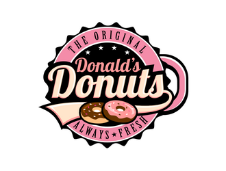 Donald's Donuts logo design