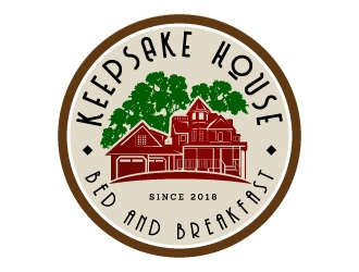 Keepsake House Bed and Breakfast logo design