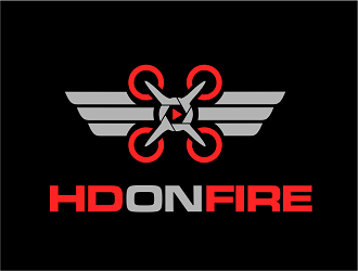 HD ON FIRE logo design