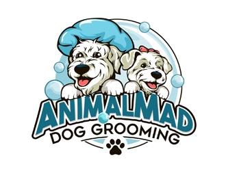 AnimalMad Dog Grooming logo design
