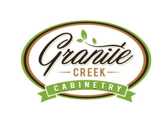 Granite Creek Cabinetry  logo design