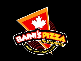 Bainis Pizza on Caldwell logo design