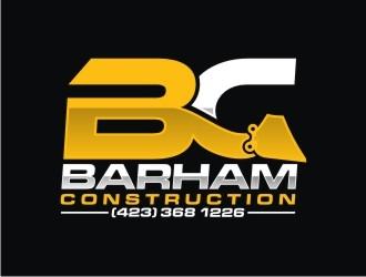 Barham construction logo design