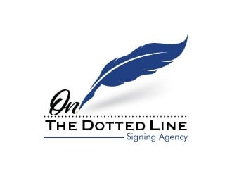 On the dotted line logo design