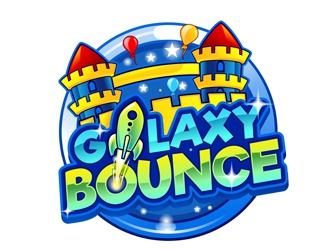 Galaxy Bounce logo design