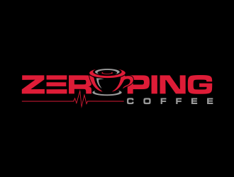 Zero Ping Coffee logo design