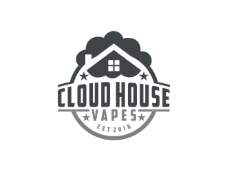 Cloud house vapes  logo design
