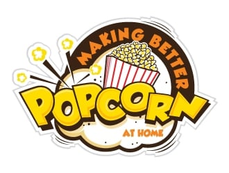 making better popcorn logo design
