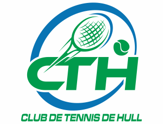 Club de tennis de Hull (CTH) logo design